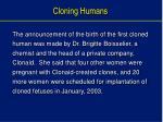 cloning humans60