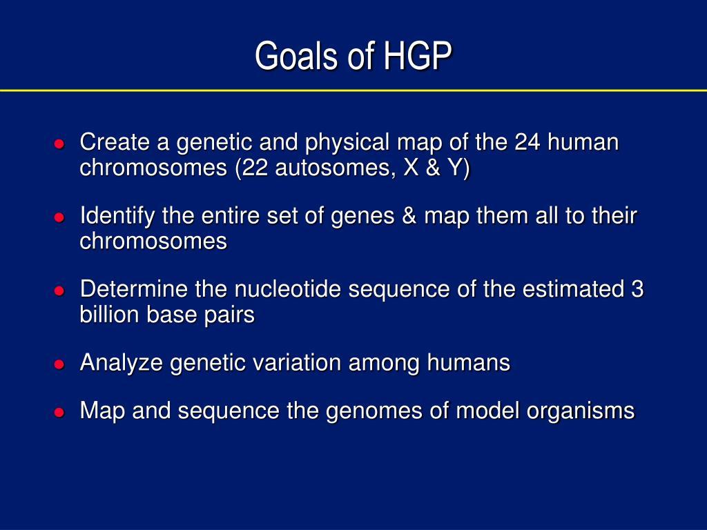 Goals of HGP