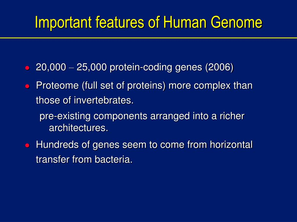 Important features of Human Genome