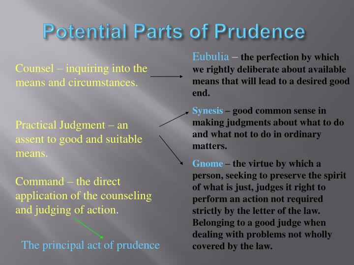 Potential Parts of Prudence