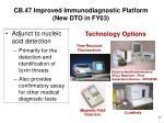 cb 47 improved immunodiagnostic platform new dto in fy03