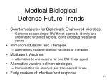 medical biological defense future trends