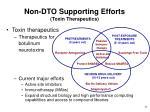 non dto supporting efforts toxin therapeutics