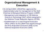 organizational management execution