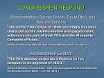 congressmen respond