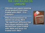 fda 1994 ruling on labeling