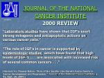journal of the national cancer institute 2000 review