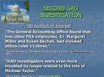 second gao investigation