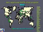 glc approved dots plus projects who