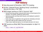 p3p history