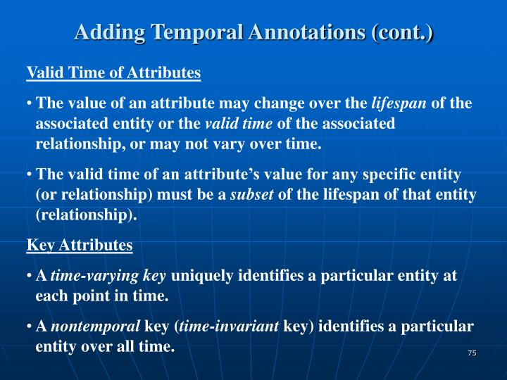 Adding Temporal Annotations (cont.)