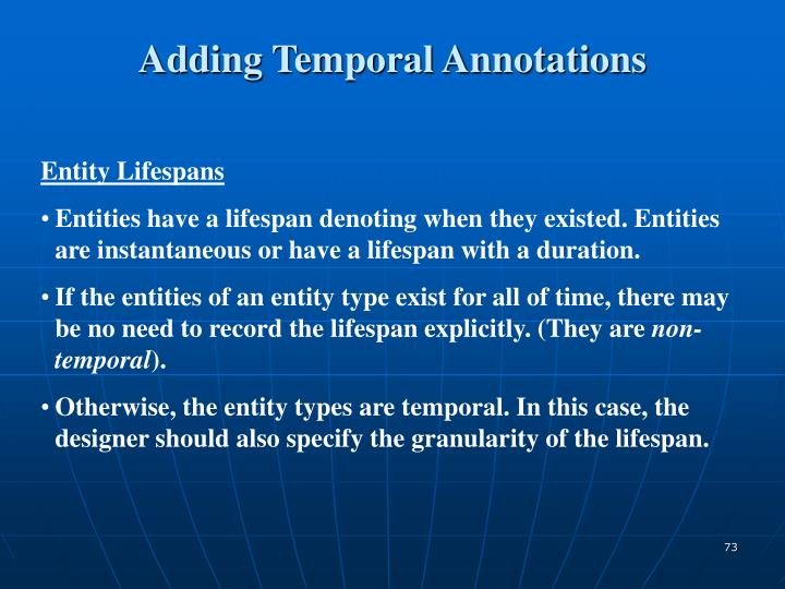 Adding Temporal Annotations