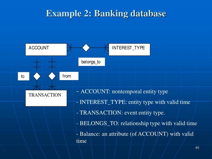 Example 2: Banking database