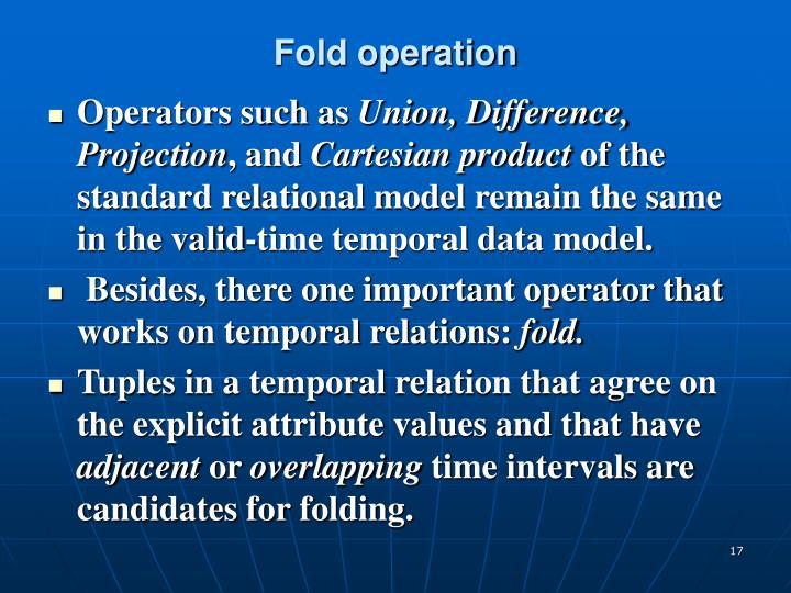 Fold operation