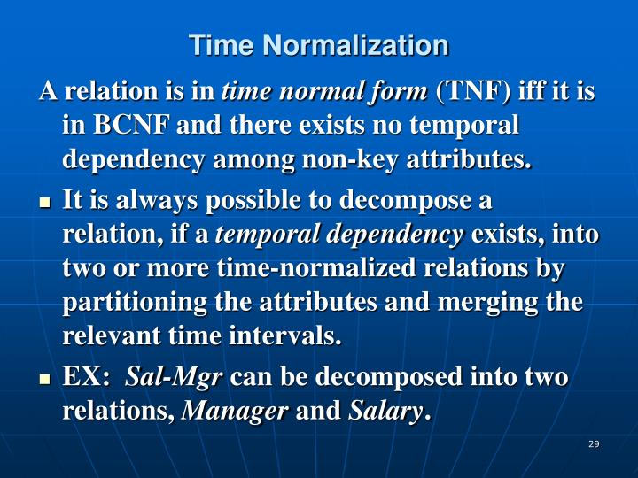 Time Normalization