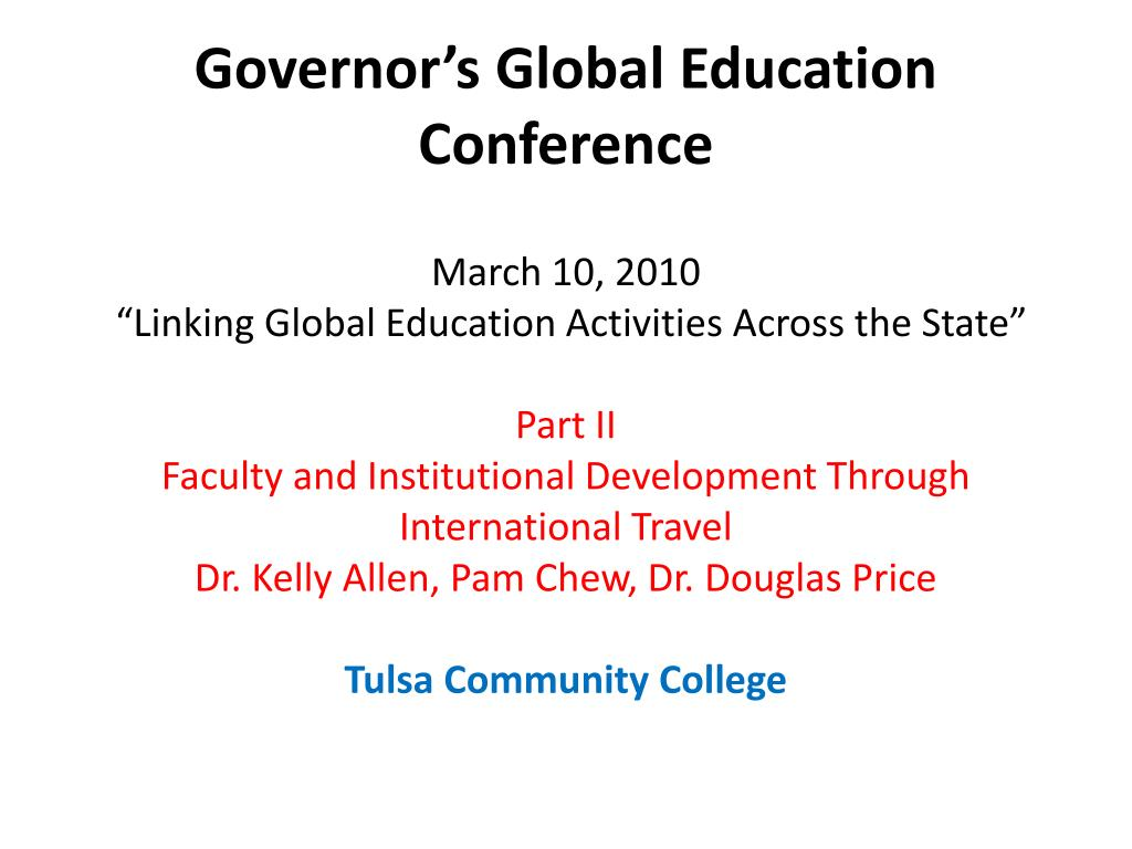 governor s global education conference l.