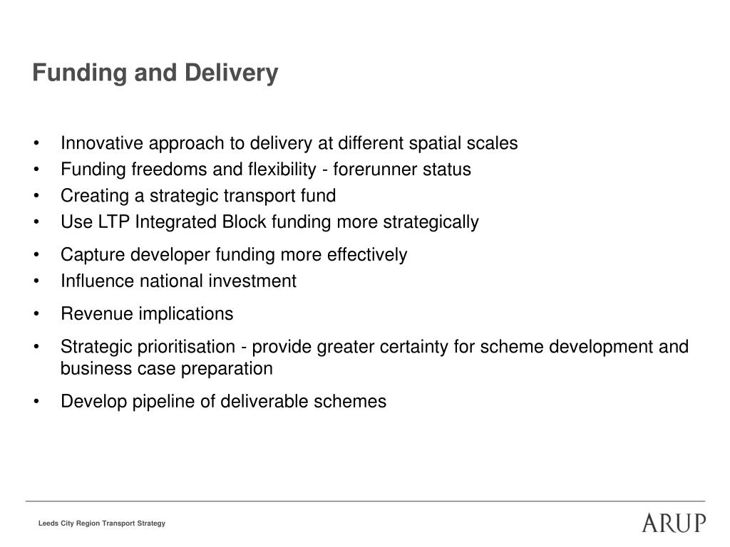 Funding and Delivery