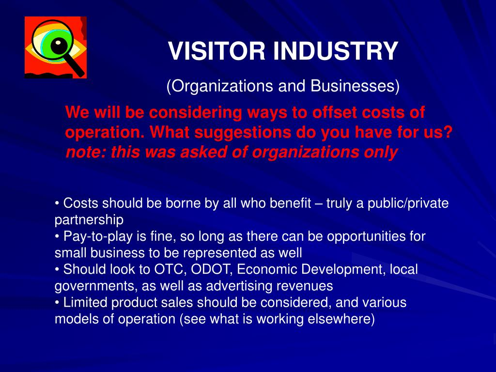 VISITOR INDUSTRY