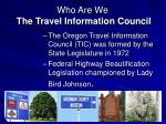 who are we the travel information council