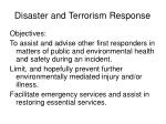 disaster and terrorism response