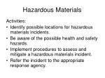 hazardous materials30