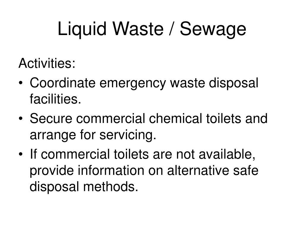 Liquid Waste / Sewage