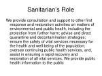sanitarian s role5