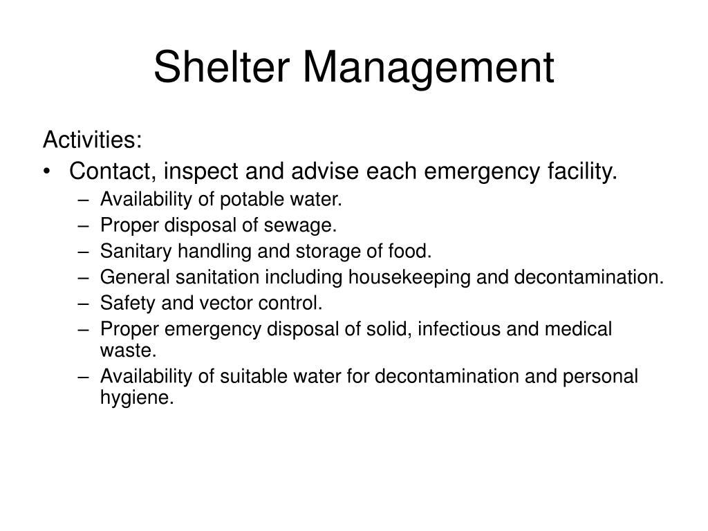Shelter Management
