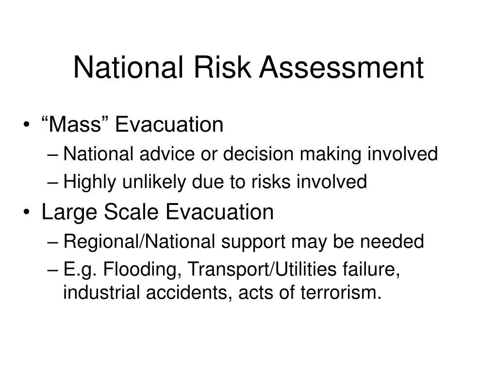 National Risk Assessment