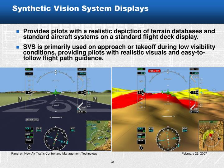 Synthetic Vision System Displays