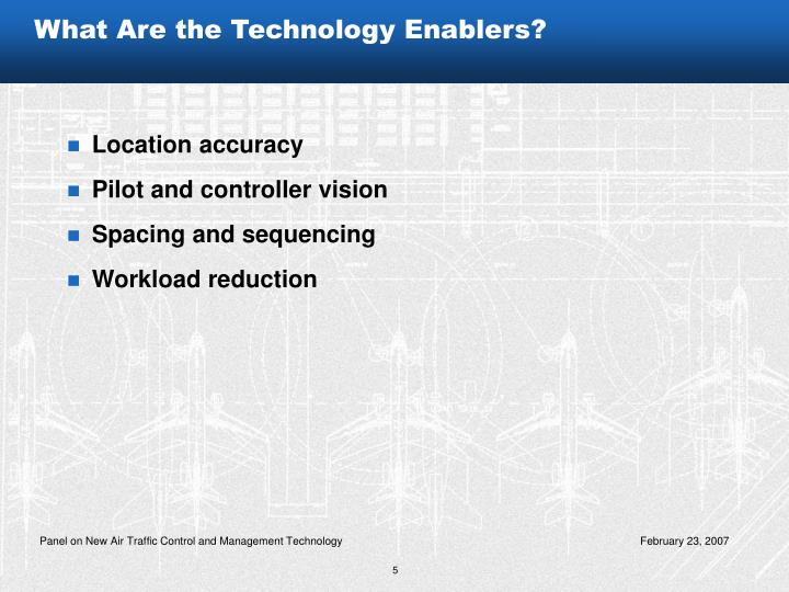 What Are the Technology Enablers?