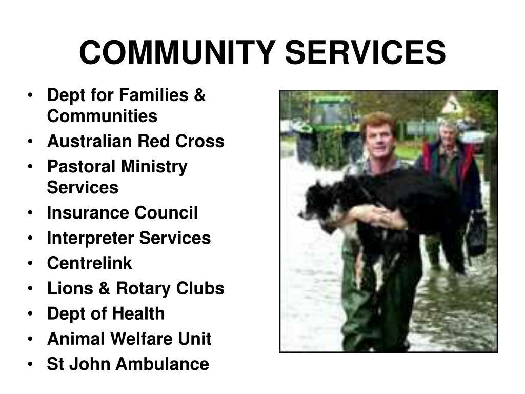 Dept for Families & Communities