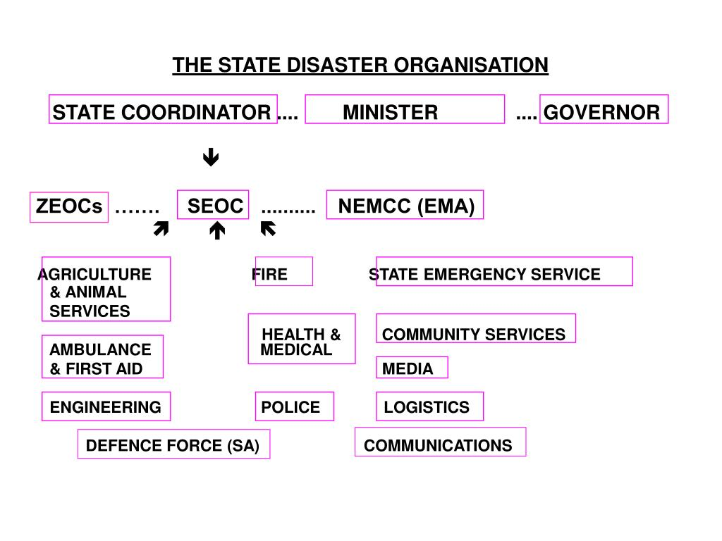 THE STATE DISASTER ORGANISATION