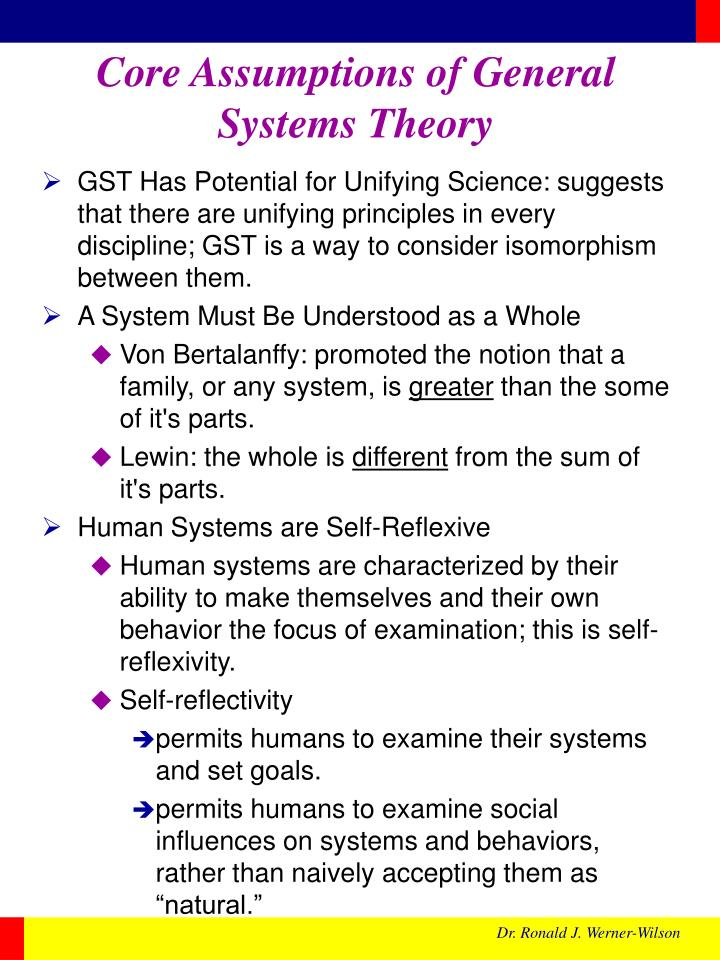 Core Assumptions of General Systems Theory