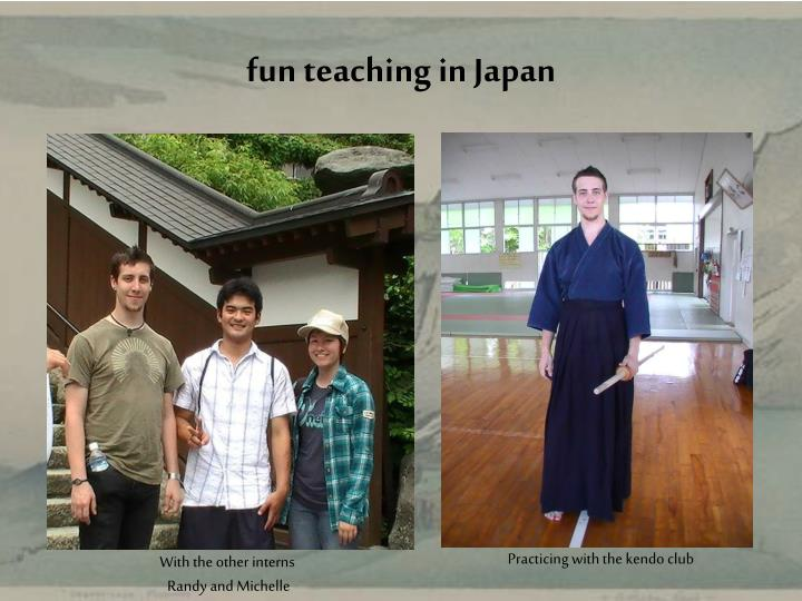 fun teaching in Japan