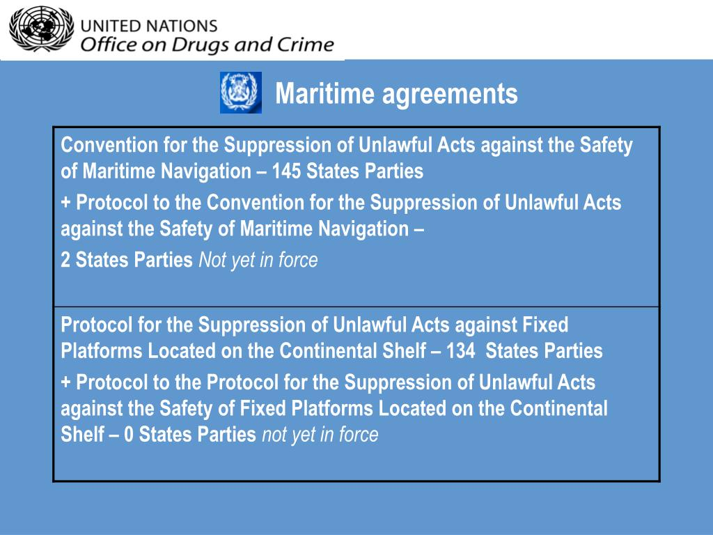 Maritime agreements