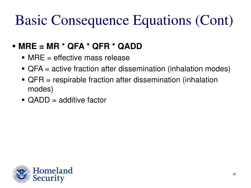 Basic Consequence Equations (Cont)