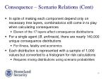 consequence scenario relations cont