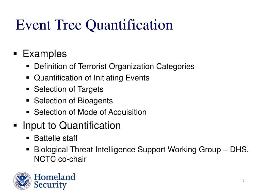 Event Tree Quantification