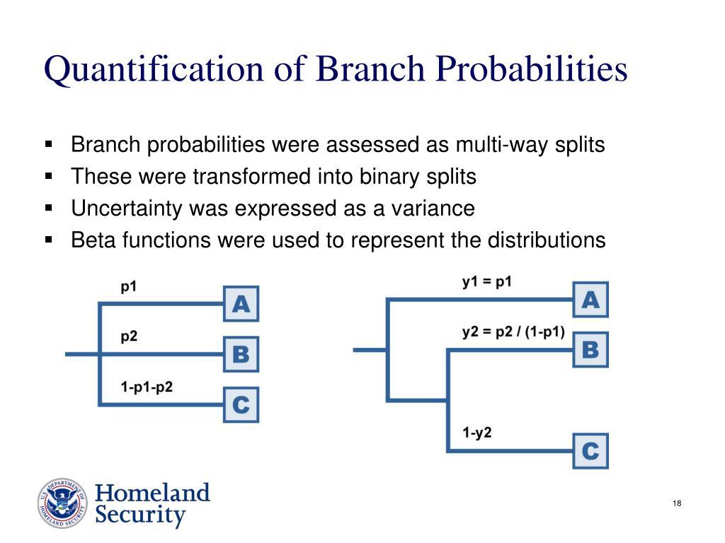 Quantification of Branch Probabilities