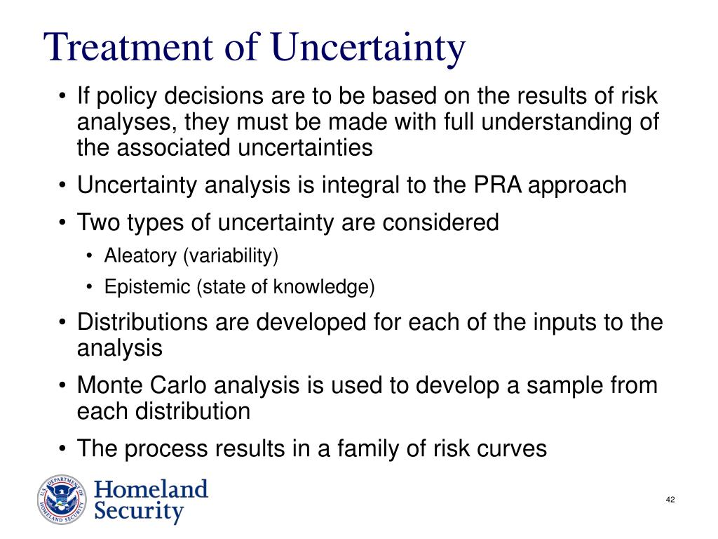 Treatment of Uncertainty
