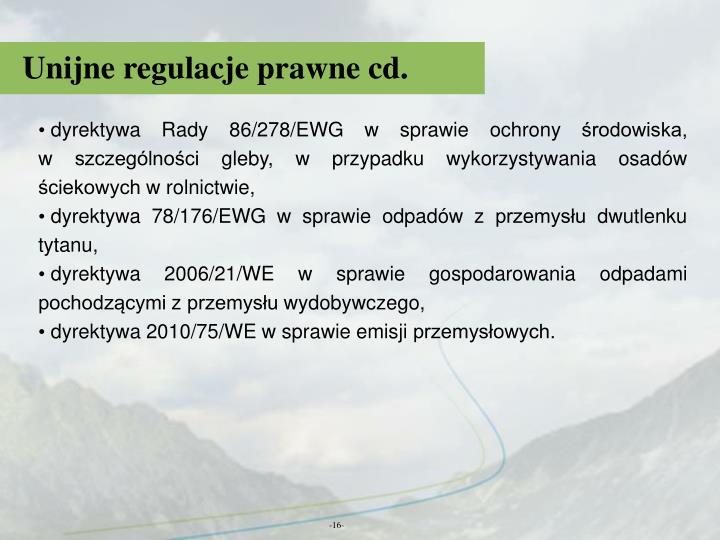 Unijne regulacje prawne cd.