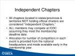 independent chapters