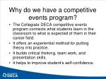 why do we have a competitive events program