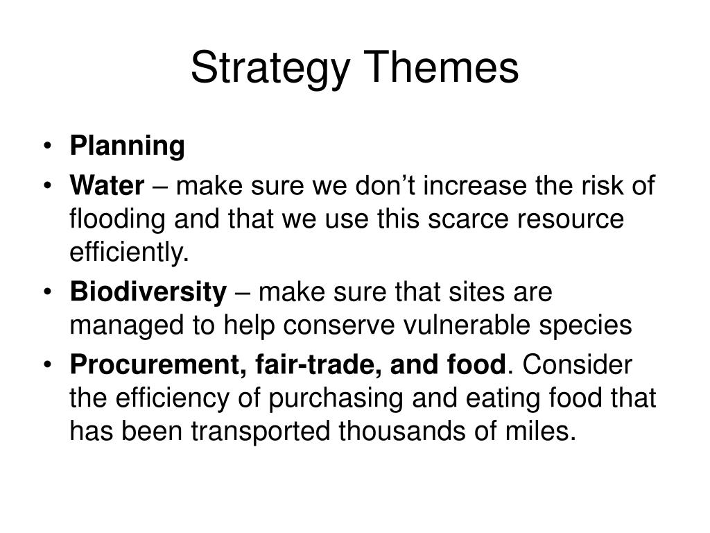 Strategy Themes