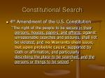 constitutional search