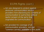 ecpa rights cont