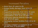increased penalties