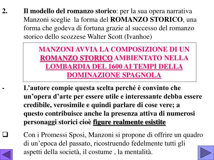 2.Il modello del romanzo storico