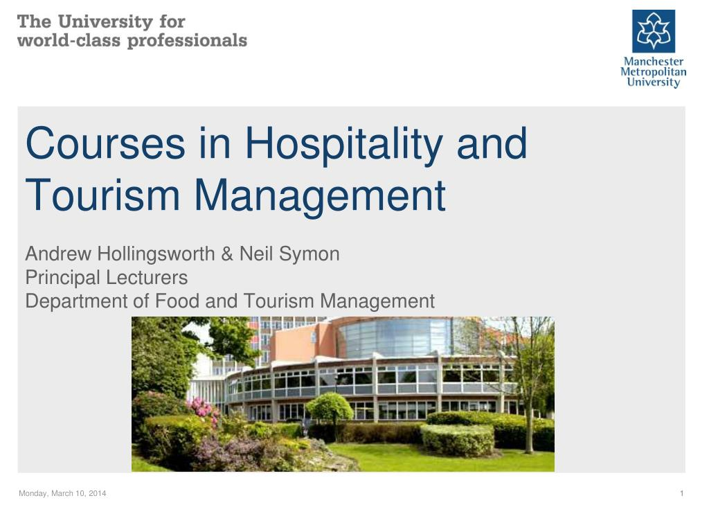 courses in hospitality and tourism management l.